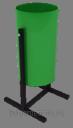 Урны металлические для мусора 30л