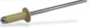 Заклепка вытяжная комбинированная (алюминий-сталь) окрашеная RAL 1015 (легкий слоновый)