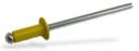 Заклепка вытяжная комбинированная (алюминий-сталь) окрашеная RAL 1021 (ярко-желтый)