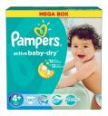 Подгузники Pampers Active Baby Maxi+ Jumbo, 9-20 кг, 120 шт.