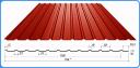 Профнастил С8 RAL 3005 толщина 0,45мм для кровли и заборов