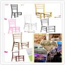 Wedding wood/resin chiavari chair