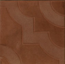 Бетонная тротуарная плитка Фантазия 300х300х30 (коричневая)