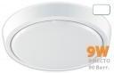 12W, накладной светильник, круг белый, матовое стекло, 220V, 48LED, 6000К, IP44, 11-13lm