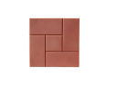 Тротуарная плитка для дачи с доставкой КАЛИФОРНИЯ 300х300х30 (красная)