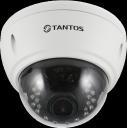 Двухмегапиксельная уличная купольная антивандальная IP камера TSi-Vle2VP (2.8-12)