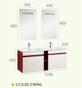 Навесные шкафы для ванной комнаты + зеркальный шкаф LTJ120-CWRG