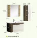 Шкафы для ванной комнаты + зеркальный шкаф+боковой шкаф SFJB80-PWDL