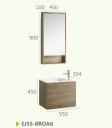Мебель для ванной комнаты + зеркальный шкаф EJ55-BROAK