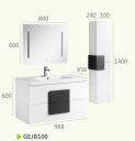 Шкафы для ванных комнат +зеркало с тактильным выключателем + боковой шкаф GEJB100