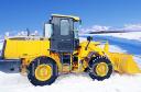Уборка снега фронтальным погрузчиком XCMG ZL30G
