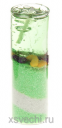 Свеча гелевая Морской берег цвет зеленый