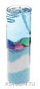 Свеча гелевая Морской берег цвет голубой