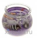 Свеча гелевая Морской берег цвет фиолетовый
