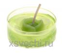 Свеча гелевая Цветочек цвет зеленый