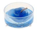 Свеча гелевая Цветочек цвет синий