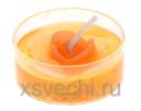 Свеча гелевая Цветочек цвет оранжевый