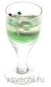 Свеча гелевая Рюмочка цвет зеленый
