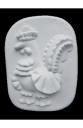 Гипсовый барельеф для раскрашивания Дымковский Петух (Д185*Ш140*В25 мм)