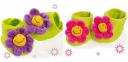 Мотылек Велюровые пинетки цветочки