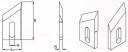 Ножи шипорезные TTH длиной от 60 мм до 410 мм