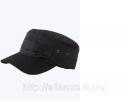 Кепи охранника тк. смесовая черная утепл ГУ 019