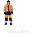 Костюм сигнальный зимний оранжевый СОМ 344