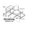 Поперечная рейка 1,2 м Т-24 Armstrong Javelin