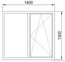 Окно в проем холодное 1400*1300 мм