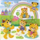 Наклейка для малышей 3D Мишки