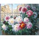 Картина по номерам Свежесть утренних пионов, 40x50, Белоснежка