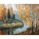 Раскраска Вот и осень пришла Игоря Разживина, 40x50, Белоснежка