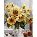 Раскраска Солнечное настроение, 40x50, Белоснежка