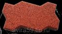 Покрытие резиновое из крошки Брусчатка «Волна», 20 мм
