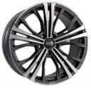 OZ Cortina 9.0x19 5/120 ET40 d-79 Matt Dark Graphite Diamond Cut (W0188720349) 79.0