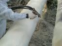 Напыление ППУ на трубы