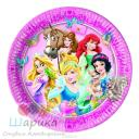 Тарелка Принцессы и животные 23см  8шт.