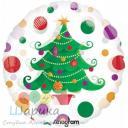 Фольгированный круг Новогодняя елка