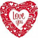 Фольгированный шар сердце,Люблю тебя (серебряные завитки) 18