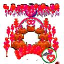 Свадебное оформление шарами пакет 4