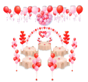 Свадебное оформление шарами пакет 3