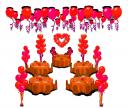 Свадебное оформление шарами пакет 1