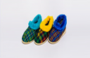 Тапочки детские меховые с меховой опушкой (лодочки 2 23М) Размеры 12-18