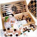 Набор игр 4 в 1 Сыграем - лото, шахматы, шашки, нарды