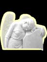 Памятник плачущий ангел на могилу