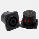 РазъемДинамика(Speaker Connector)SVP563S-P-ST-M,4P Разъем,25A,GOLD,4P MALE PANEL MOUNT SPEAKER CONNECTOR (PCBPIN,FOR SELF-TAPPING SCREW)