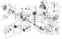 Тыльная часть двигателя триммера Denzel DZ-260 (рис 24)