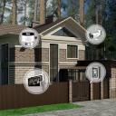Установка видеодомофона в частный дом (с системой контроля и управления доступом)