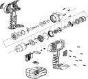 Крышка внешняя аккумуляторного  гайковерта ЗГУА-18-Ли К (рис.2)