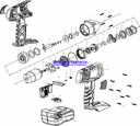 Шестерня малая аккумуляторного  гайковерта ЗГУА-18-Ли К (рис.13)